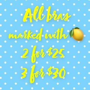 Bundle bras with a 🍋 and get a discount!